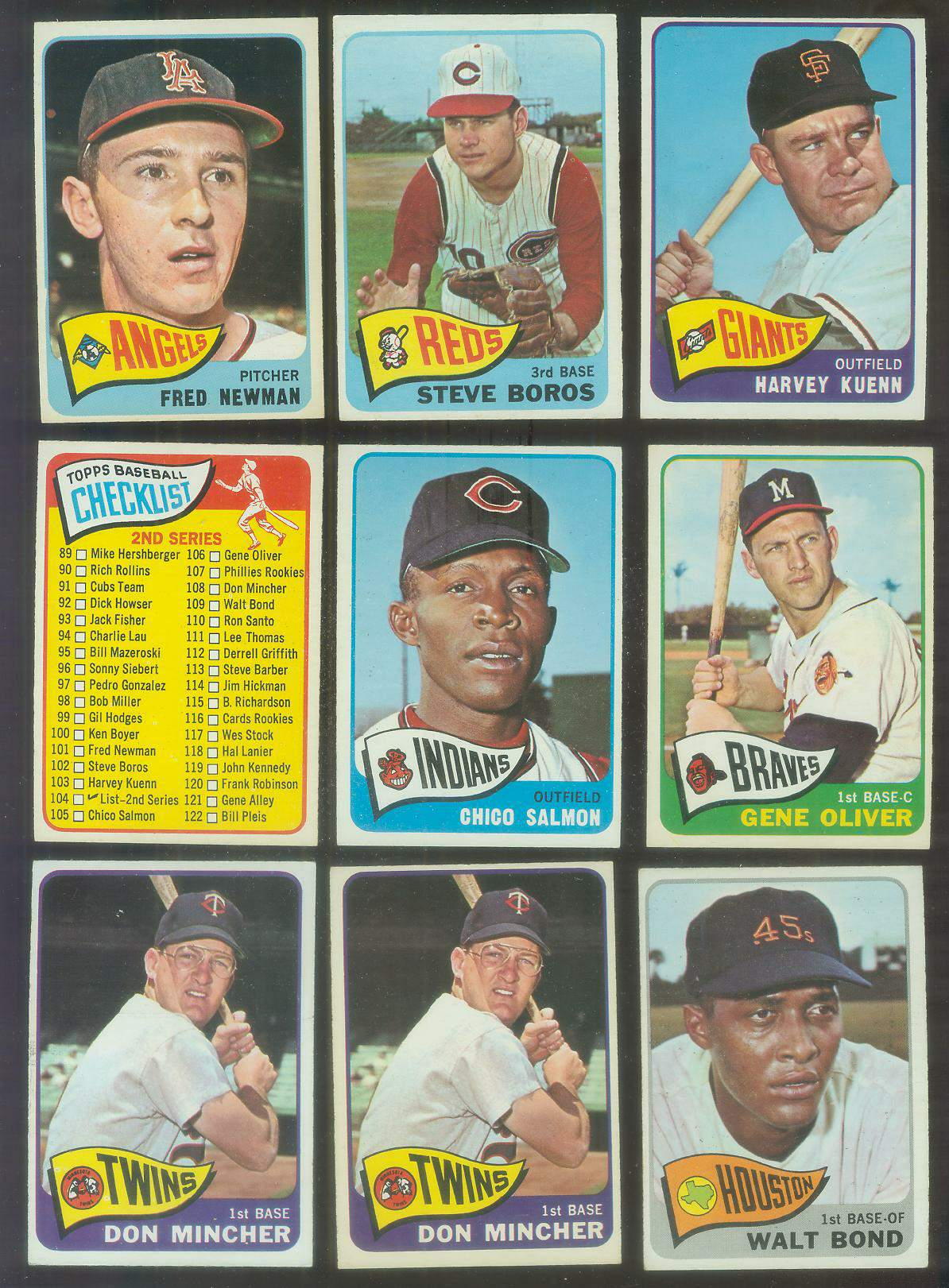 1965 O-Pee-Chee/OPC #101 Fred Newman (Angels) Baseball cards value