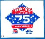 1989 Chicago Cubs 75th Diamond Anniversary Wrigley Field decal/sticker