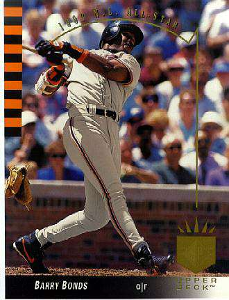 Barry Bonds - 8-1/2 x 11 Upper Deck Authenticated card Baseball cards value
