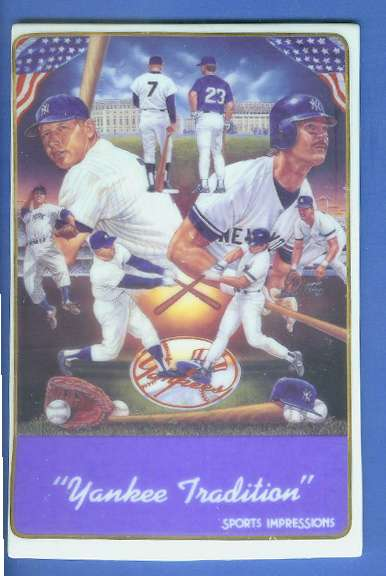 Mickey Mantle Don Mattingly 1987 Ceramic Card By Sports