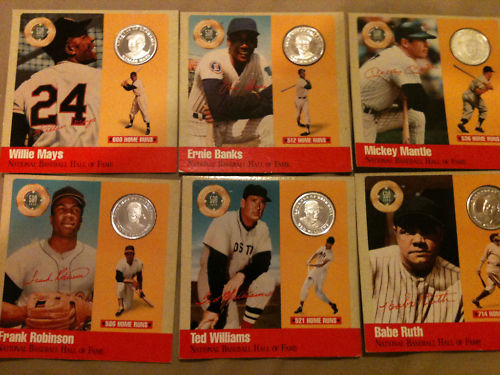 Mickey Mantle - 1990 500 Club PURE SILVER Coin Baseball cards value