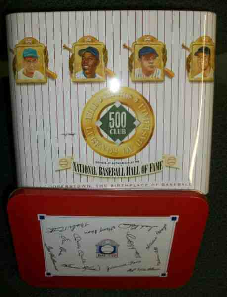 500 Home Run Club - Large Collectible Tin (7x6x5.5) (1990) Baseball cards value