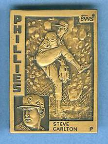 1984 Topps #.3 Steve Carlton - BRONZE GALLERY OF CHAMPIONS Baseball cards value
