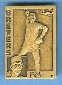 1984 Topps #.4 Rollie Fingers - BRONZE GALLERY OF CHAMPIONS Baseball cards value