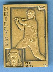 1984 Topps #.9 Pete Rose - BRONZE GALLERY OF CHAMPIONS Baseball cards value