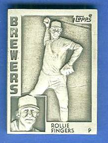 1984 Topps  Rollie Fingers - SILVER GALLERY OF CHAMPIONS Baseball cards value