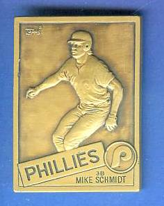 1985 Topps #10 Mike Schmidt - BRONZE GALLERY OF CHAMPIONS Baseball cards value