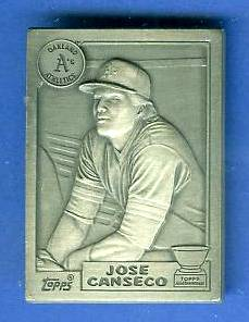 1987 Topps Jose Canseco ROOKIE - PEWTER BONUS Baseball cards value