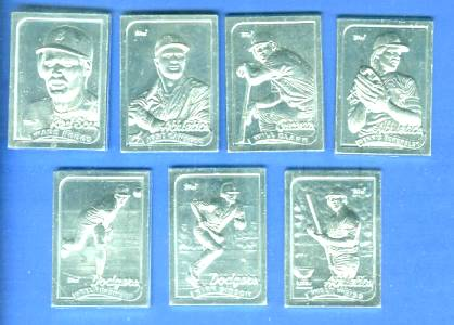1989 Topps  Aluminum GALLERY OF CHAMPIONS - Lot of (5) different STARS !!! Baseball cards value