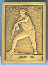 1990 Topps #.9 Nolan Ryan - BRONZE GALLERY OF CHAMPIONS Baseball cards value