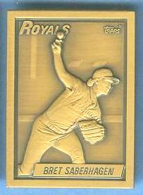 1990 Topps #10 Bret Saberhagen - BRONZE GALLERY OF CHAMPIONS Baseball cards value
