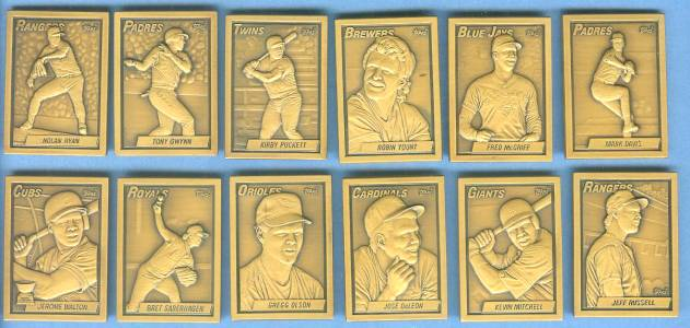 1990 Topps  BRONZE GALLERY OF CHAMPIONS - COMPLETE SET of (12) Baseball cards value