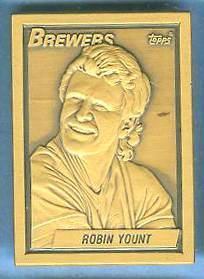 1990 Topps #12 Robin Yount - BRONZE GALLERY OF CHAMPIONS Baseball cards value