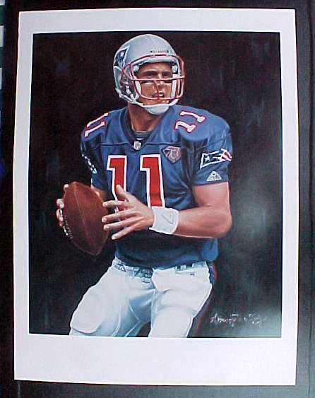 Drew Bledsoe - LOT OF (50) Full Color LITHOGRAPHS (18x24) (Patriots) Baseball cards value