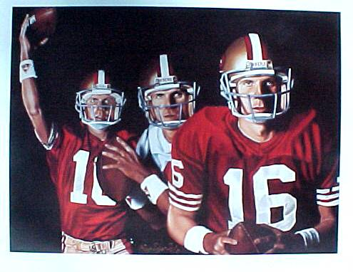Joe Montana - Full Color LITHOGRAPH (18x24) SPECIAL ARTIST PROOF (49ers) Baseball cards value