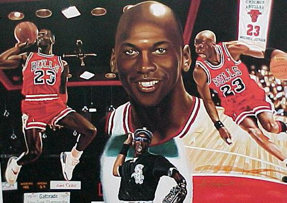 Michael Jordan - Full Color LITHOGRAPH (16x20) SPECIAL PROMO EDITION Baseball cards value