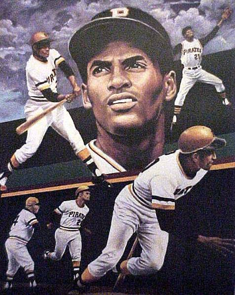 Roberto Clemente - Full Color LITHOGRAPH (1994) (18x24) Baseball cards value