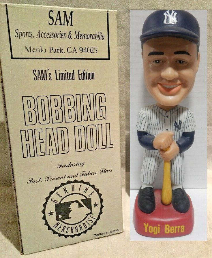 Yogi Berra - SAM's Bobbing Head Doll (Yankees) Baseball cards value