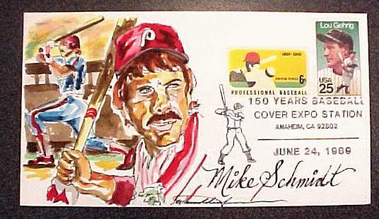 Mike Schmidt - Wild Horse Cachets commemorative hand-painted envelope Baseball cards value