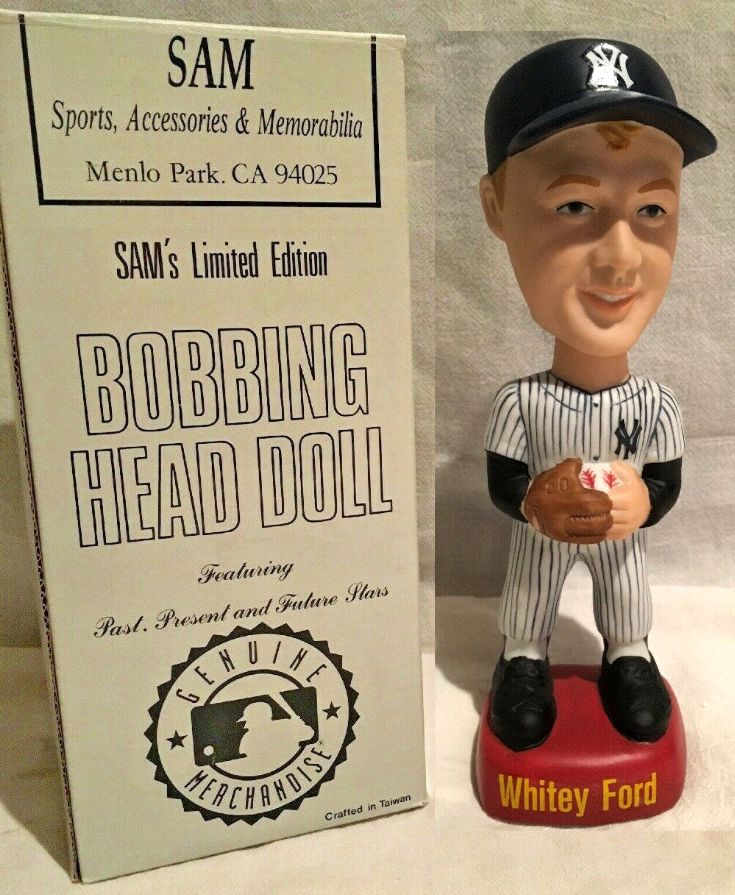 Whitey Ford - SAM's Bobbing Head Doll (Yankees) Baseball cards value