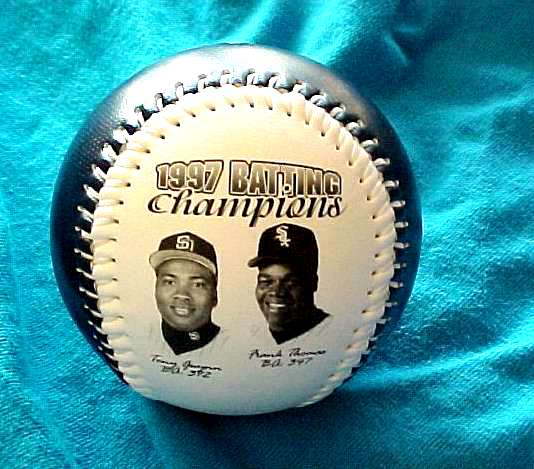Tony Gwynn / Frank Thomas - 1997 Batting Champions fotoball Baseball cards value