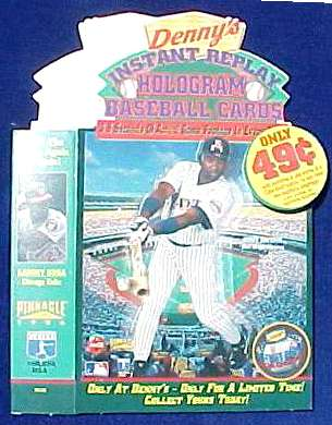 Tony Gwynn - 1996 Denny's HOLOGRAM CARDS Point of Purchase Display Piece Baseball cards value