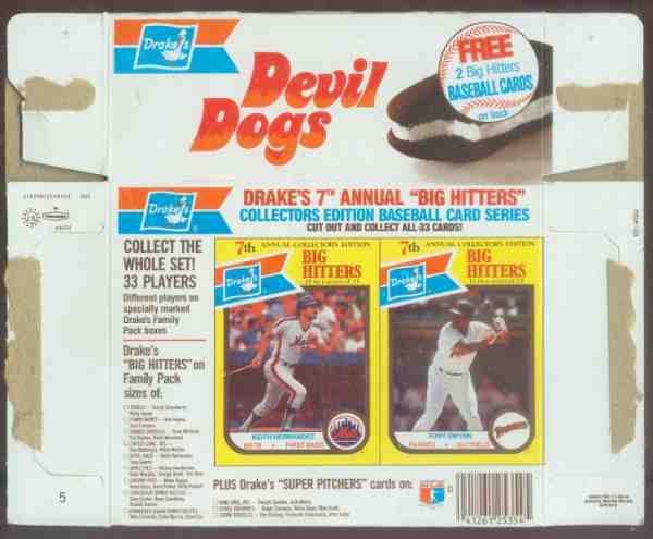 Tony Gwynn - 1987 Drakes 'Devil Dogs' - COMPLETE BOXES - Lot of (5) Baseball cards value