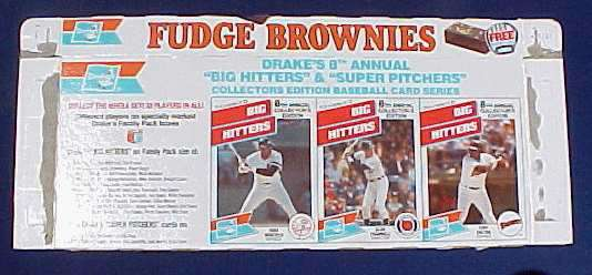 Tony Gwynn - 1988 Drakes 'Fudge Brownies' COMPLETE BOX Baseball cards value