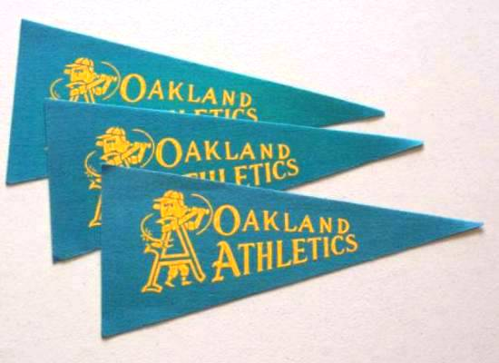 1969 Oakland A's - Mini Pennants - LOT OF (  3) Baseball cards value