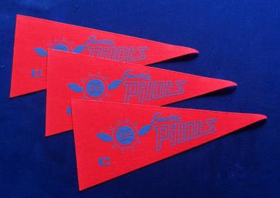 1969 Seattle Pilots - Mini Pennants - LOT OF (  3) Baseball cards value