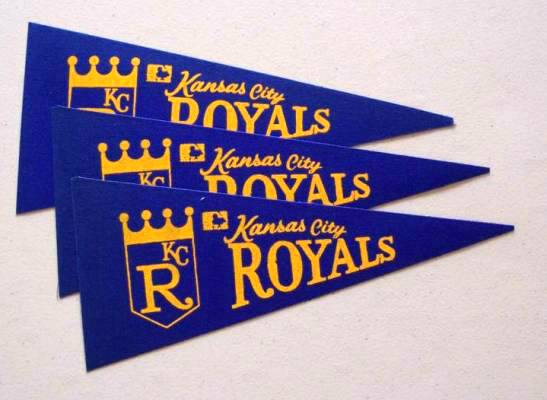 1969 Kansas City Royals - Mini Pennants - LOT OF (  3) Baseball cards value