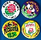 ROSE BOWL - Lot of (4) Vintage 3-1/2 inch pins/buttons (different)
