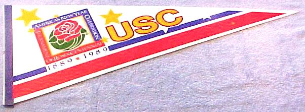 PENNANT - 1989 USC Tournament of Roses Centennial Baseball cards value