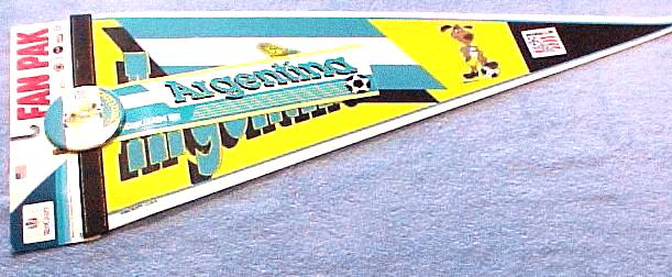 PENNANT - 1994 World Cup Soccer Argentina (comes with collectors button) Baseball cards value