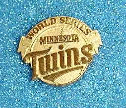 1987 Minnesota TWINS WORLD SERIES Press Pin Baseball cards value