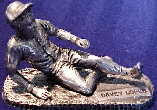 Davey Lopes - 1979 Signature Pewter Figurine (Dodgers) Baseball cards value