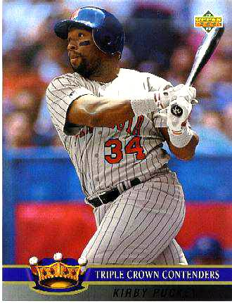 Kirby Puckett - 8-1/2 x 11 Upper Deck Limited Edition card Baseball cards value