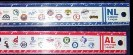 1993 American & National League RULERS (2) (12 inch, plastic)