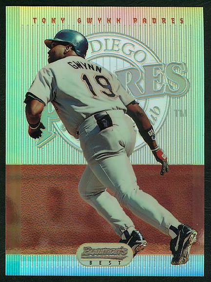 Tony Gwynn - 1995 Bowman's Best JUMBO #21 REFRACTOR (Padres) Baseball cards value