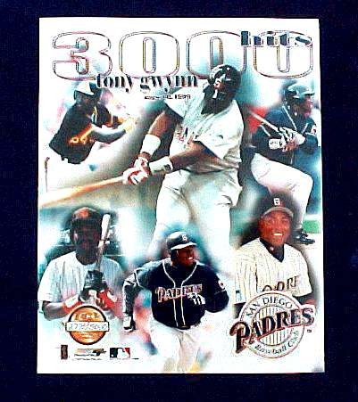 Tony Gwynn - Limited Edition 3,000 Hit commemorative 8x10 (Padres) Baseball cards value