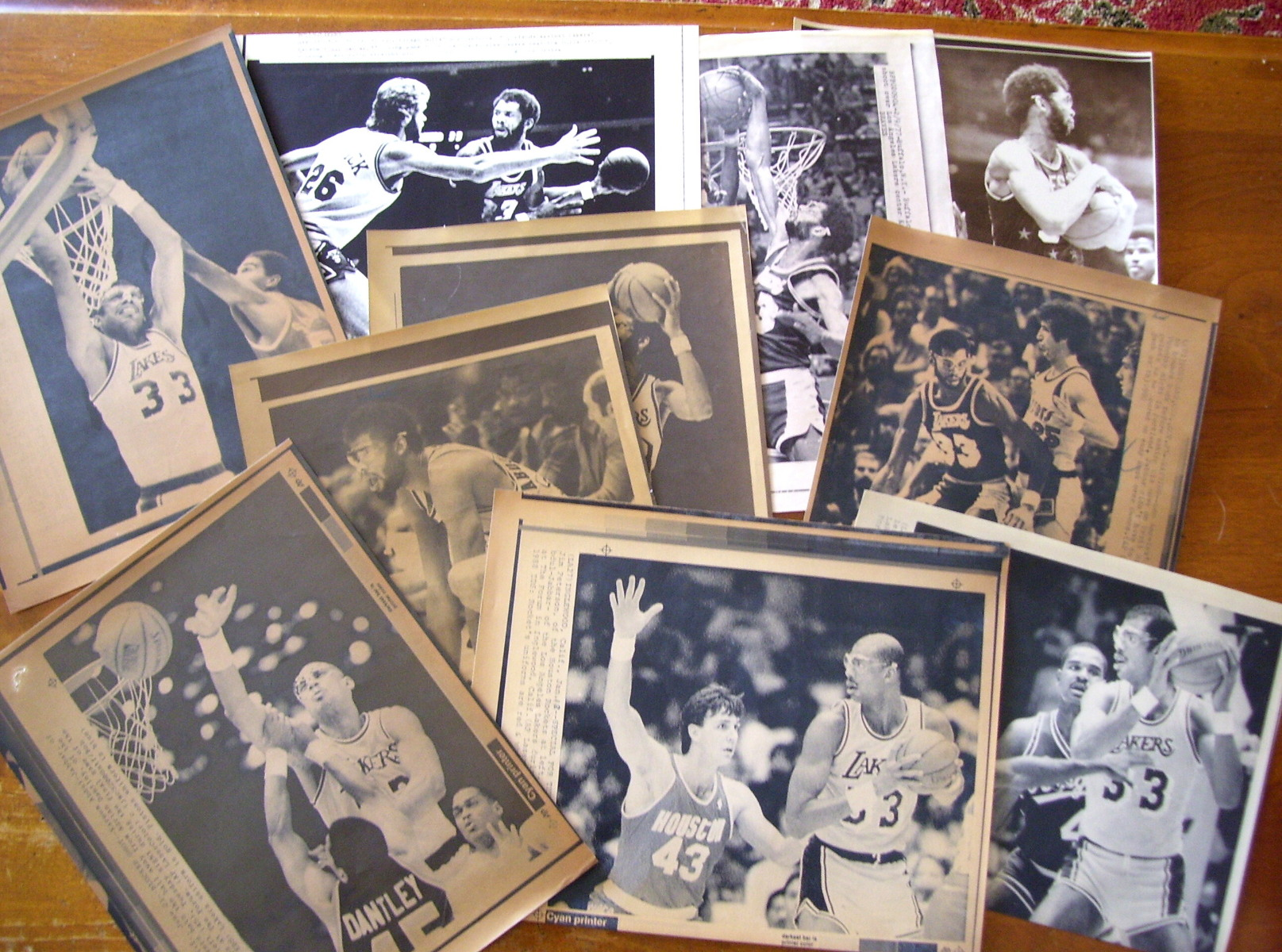 WIREPHOTO: Karrem Abdul Jabbar - LOT of (10) - 1976 thru 1988 Basketball cards value