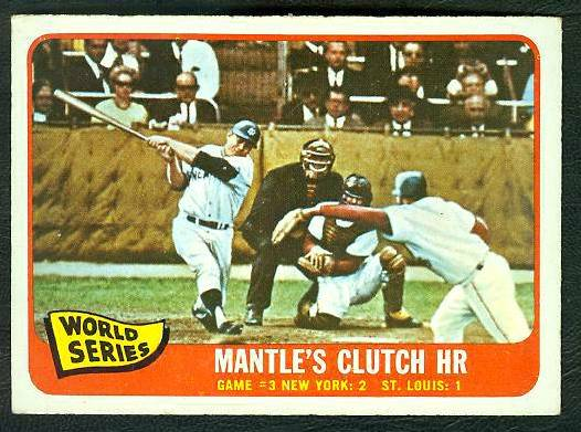 1965 O-Pee-Chee/OPC #134 Mickey Mantle - World Series Game #3 Baseball cards value