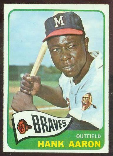 1965 O-Pee-Chee/OPC #170 Hank Aaron [#a] (Braves) Baseball cards value