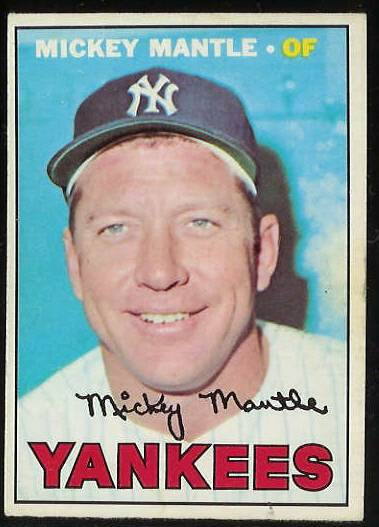 1967 O-Pee-Chee/OPC #150 Mickey Mantle (Yankees) Baseball cards value