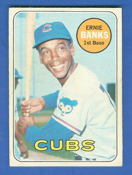 1969 O-Pee-Chee/OPC #.20 Ernie Banks [#b] (Cubs) Baseball cards value
