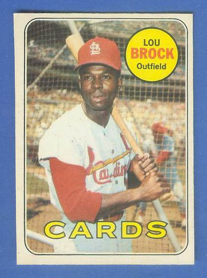 1969 O-Pee-Chee/OPC #.85 Lou Brock [#c] (Cardinals) Baseball cards value