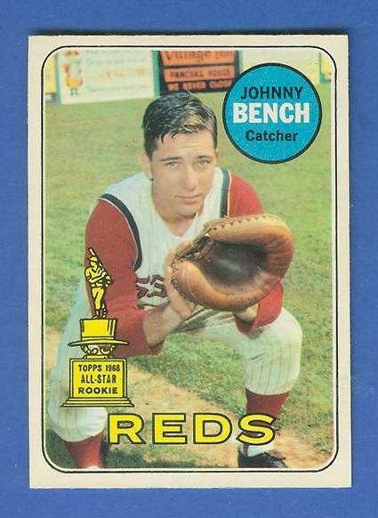 1969 O-Pee-Chee/OPC #.95 Johnny Bench [#a] (Reds) Baseball cards value