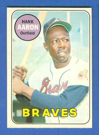1969 O-Pee-Chee/OPC #100 Hank Aaron [#c] (Braves) Baseball cards value
