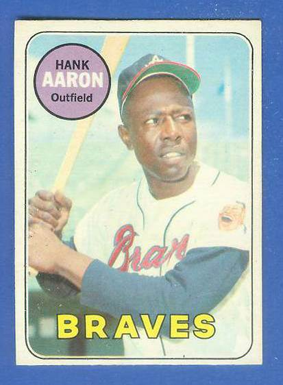 1969 O-Pee-Chee/OPC #100 Hank Aaron [#f] (Braves) Baseball cards value