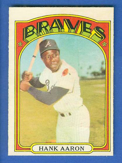 1972 O-Pee-Chee/OPC #299 Hank Aaron [#a] (Braves) Baseball cards value